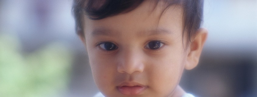 closeup of young boy