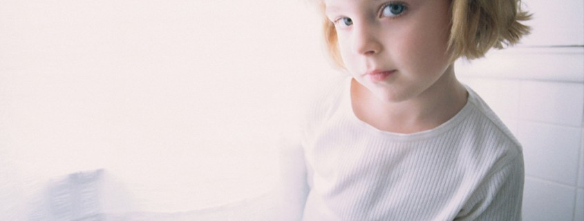 apprehensive young girl