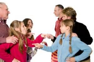 families accusing each other