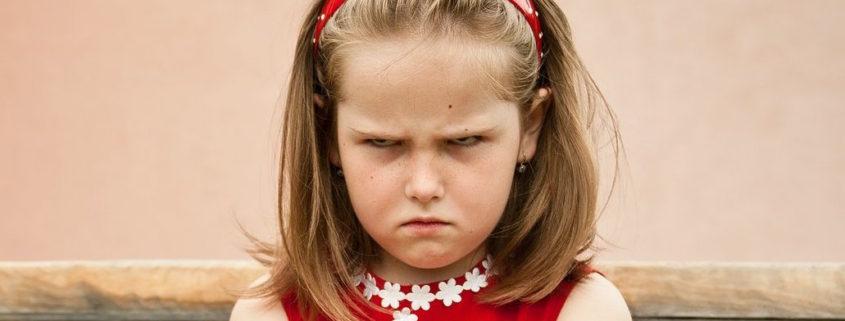 very upset young girl